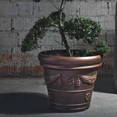 TERRA COLLECTION, Decorative flower pot  CONICOFESTONATO 35, terracotta. SALE - 20%!