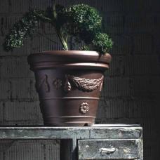 TERRA COLLECTION, Decorative flower pot  CONICOFESTONATO 35, antik. SALE - 20%!