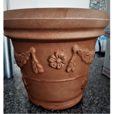 TERRA COLLECTION, Decorative flower pot  CONICOFESTONATO 45, terracotta. SALE - 25%!
