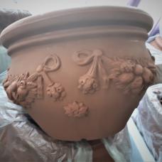 TERRA COLLECTION, Decorative flower pot CACHE‐POTFESTONATO50. SALE - 30%!