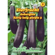 Eggplant Eierfrucht Early long purple 3
